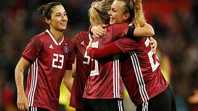 Germany win 2-1 as England women draw record crowd at Wembley