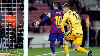 Triplo Messi, il Barca travolge il Celta