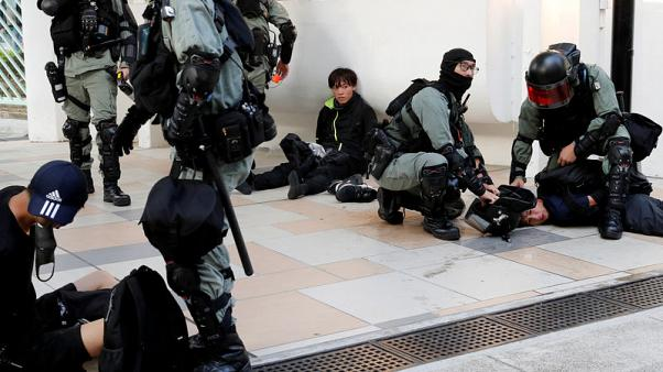Violence spreads across Hong Kong New Territories on 24th weekend of unrest