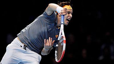 Thiem overpowers Federer in ATP Finals opener