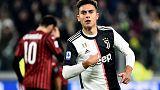 Juve's Dybala sinks Milan as unhappy Ronaldo substituted