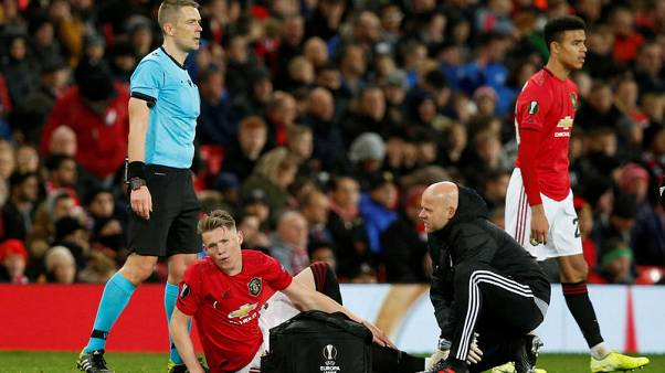 Man United's McTominay set for ankle scan, a doubt for Scotland