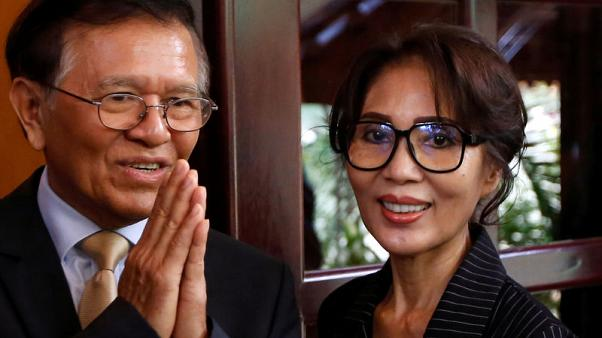 Cambodian opposition leader meets French envoy after house arrest lifted