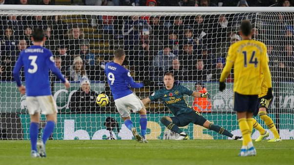Leicester's Evans plays down title talk after Arsenal win