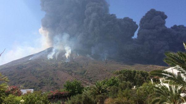 Allerta gialla per vulcano Stromboli
