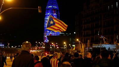 Protesters block highways as Catalan parliament presses for independence