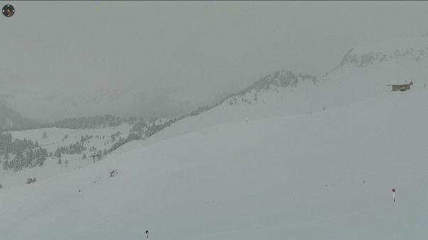Eï già pieno inverno sulle Dolomiti