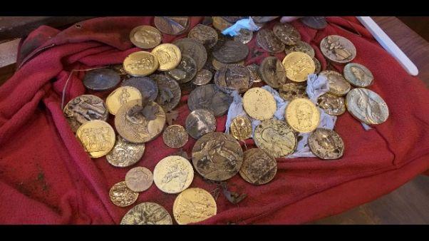 Ritrovate monete rubate museo Aretino