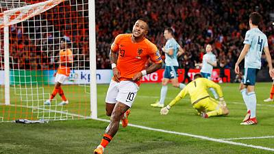 Dutch striker Depay a doubt for Belfast clash