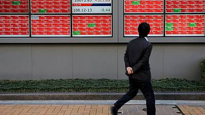 Asian shares slide on trade disappointment, HK unrest