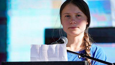 Massive mural of Greta Thunberg stares down at San Francisco