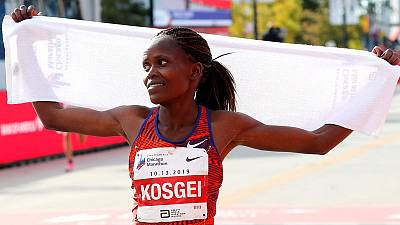 Kosgei among five finalists for female athlete of the year