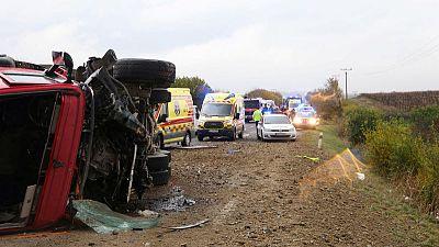 Twelve killed in Slovakia bus crash