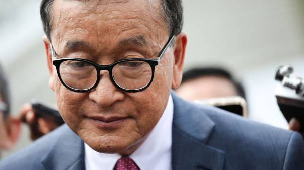 Indonesia barred Cambodia's Rainsy from flight to Jakarta - airline