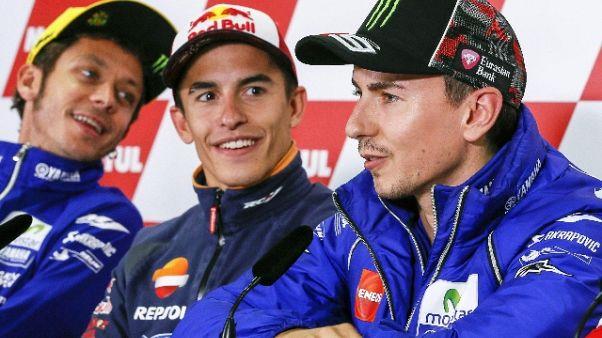 Rossi omaggia Lorenzo 'tra i più grandi'