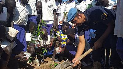 "Peacekeepers' ""Happy Mango Tree Project"" spreads smiles in Kuajok"