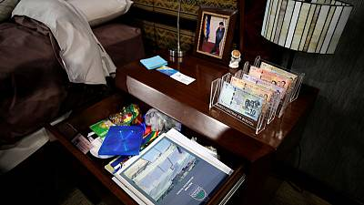 Andean textiles and bank bills: Inside Morales' home at Bolivia's Big House of the People