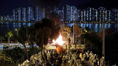 Highway blockade reveals splits in Hong Kong protest movement