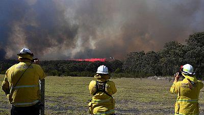 Australia braces for heavy winds, lightning amid bushfire threat