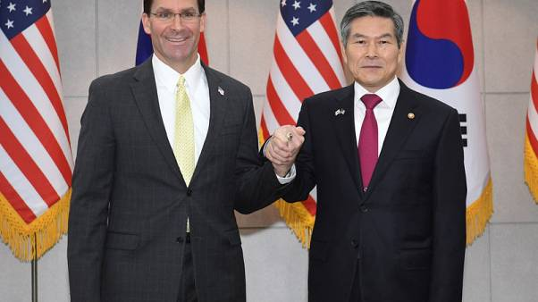 Pentagon's Esper says it is crucial South Korea pays more for U.S. troops