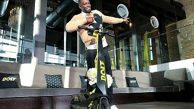 Usain Bolt brings his e-scooter to Japan despite regulatory road bumps