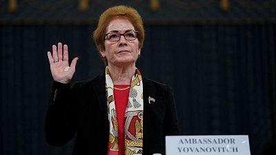 Ousted U.S. envoy to Ukraine tells impeachment hearing she had no political agenda