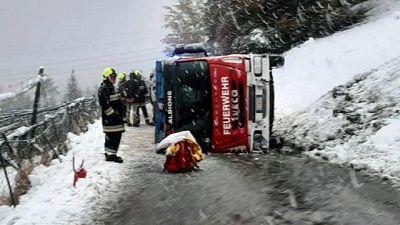 Fuori strada mezzo pompieri in A.Adige