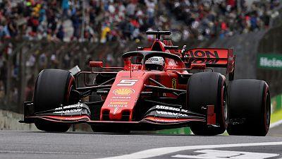 Motor racing-Vettel leads Ferrari one-two in Brazilian practice