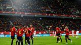 Superb Spain destroy Malta 7-0 to win group