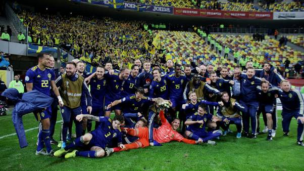 Sweden clinch Euro 2020 spot with 2-0 win in Romania