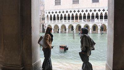 Delegazione Italia visita piazza S.Marco