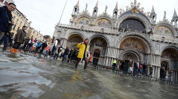 Venezia: marea lenta, ma arriva scirocco