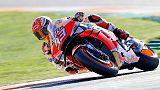 Moto: Valencia,Marquez primo nel Warm-up