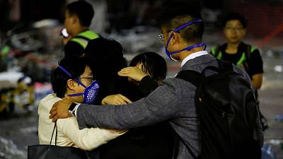 At embattled Hong Kong university, a dramatic escape