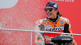 Motorcycling: Marquez triumphs in Valencia to give Honda triple crown