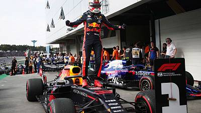 Motor racing: Verstappen wins Brazil GP thriller as Ferraris collide