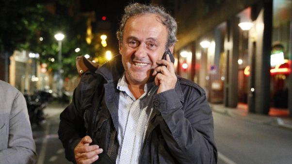 Platini'penserò bene a ultima avventura'
