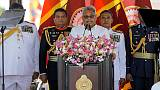 Blessed by Buddhist monks, Sri Lanka's new president prioritises security