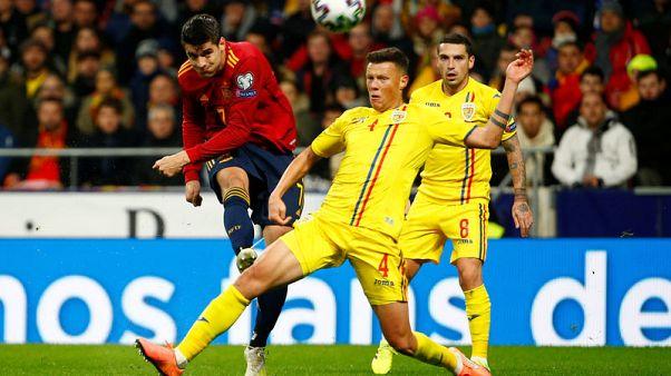 Spain thrash Romania amid doubts about coach Moreno's future