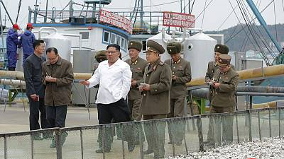 North Korea's Kim pushes economic plan with fisheries visit as officials berate United States