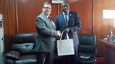 H.E. Mr. Andrii Pravednyk, Ambassador of Ukraine to the Republic of Kenya held a meeting with H.E. Ambassador Jonhson Weru, Director, Directorate of Economic Affairs and Commercial Diplomacy, MFA of the Republic of Kenya