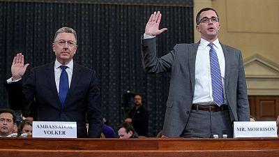 White House expert tells hearing that Trump made improper 'demand' of Ukraine