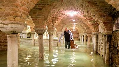 Venice's historic Saint Mark's Basilica faces costly flood clean-up