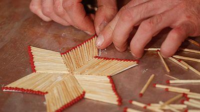 Ukrainian artist strikes a chord with matchsticks