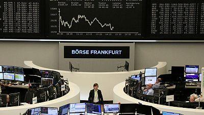 European shares edge higher in cautious trading