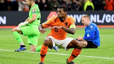 Wijnaldum hat-trick drives Netherlands to easy win over Estonia