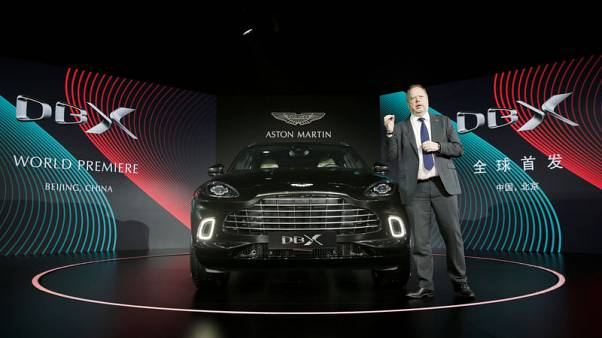 Aston Martin launches first SUV, hopeful of a turnaround