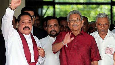 New Sri Lankan leader's brother to be sworn in as PM - spokesman