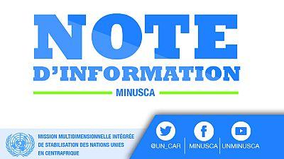Le Gouvernement Salue le Renouvelement du Mandat de la MINUSCA