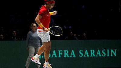 Spain cruise into Davis Cup last eight, holders Croatia eliminated